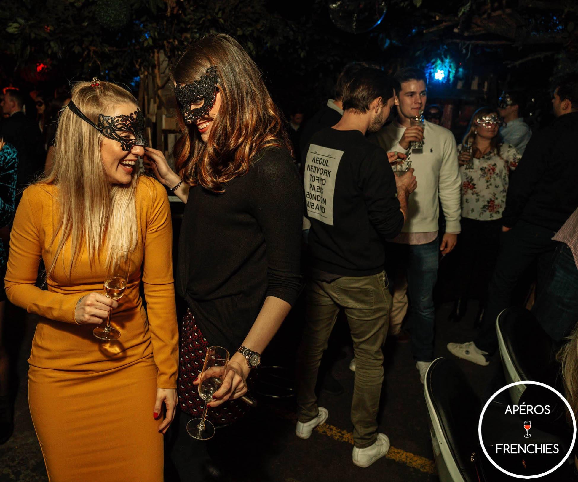 Masked Girls Partying