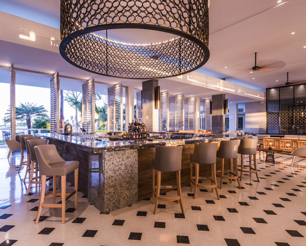 Bar Area in the Day Conrad Cartagena