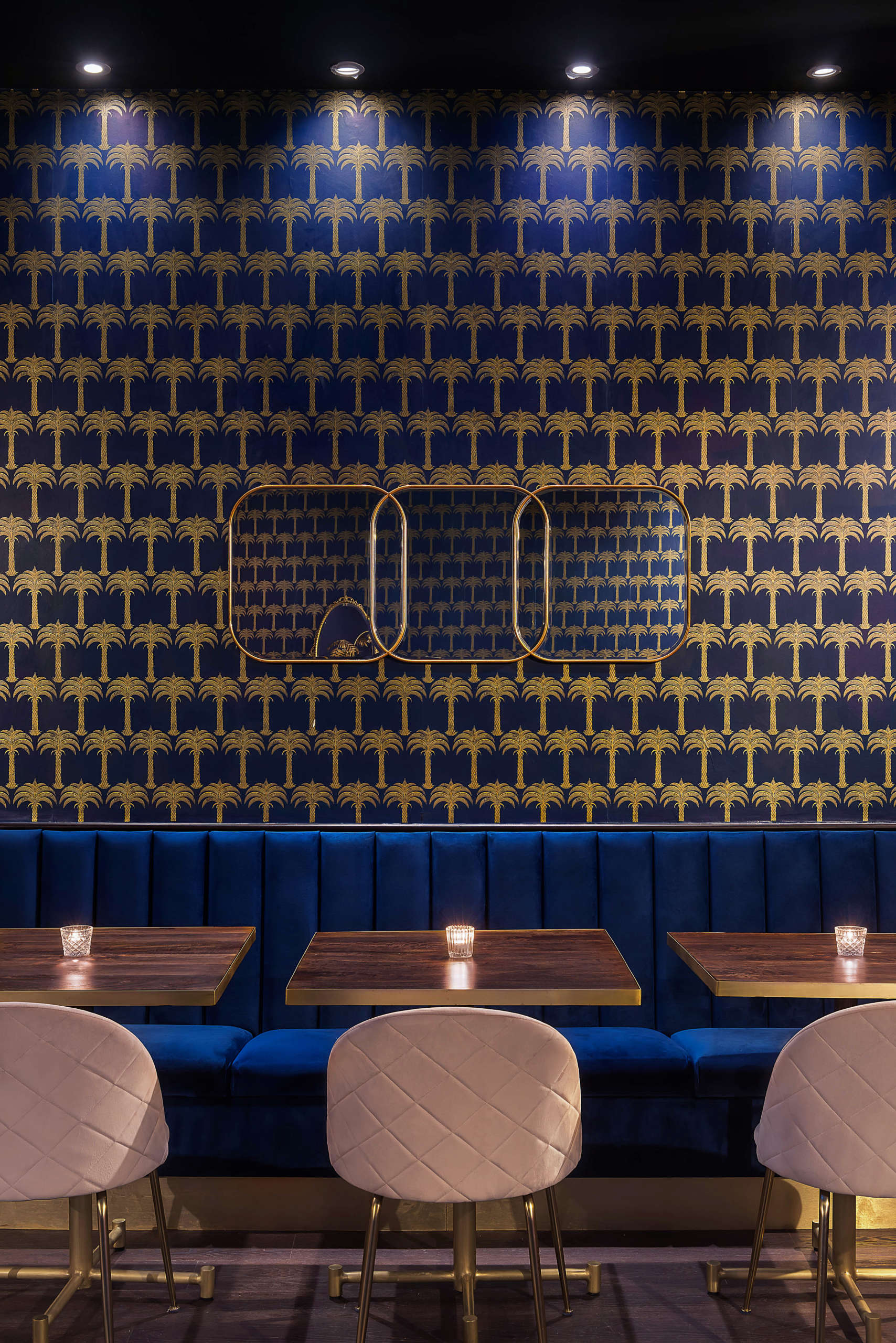 Lost Society UK Interior Blue and Gold