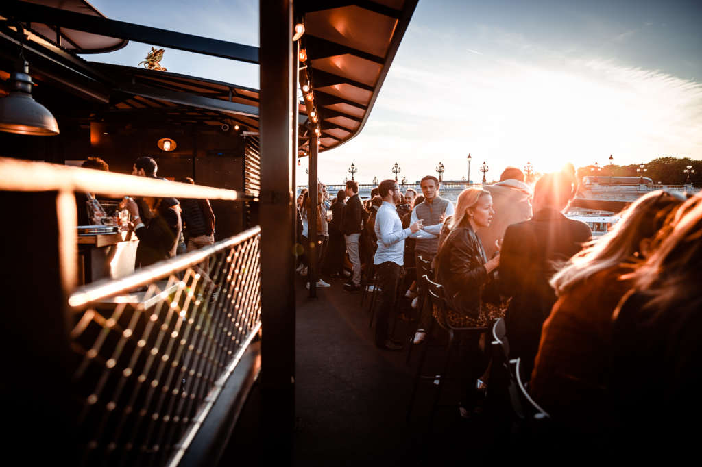 Sunset View from Flow Paris at Apéros Frenchies Event 2019